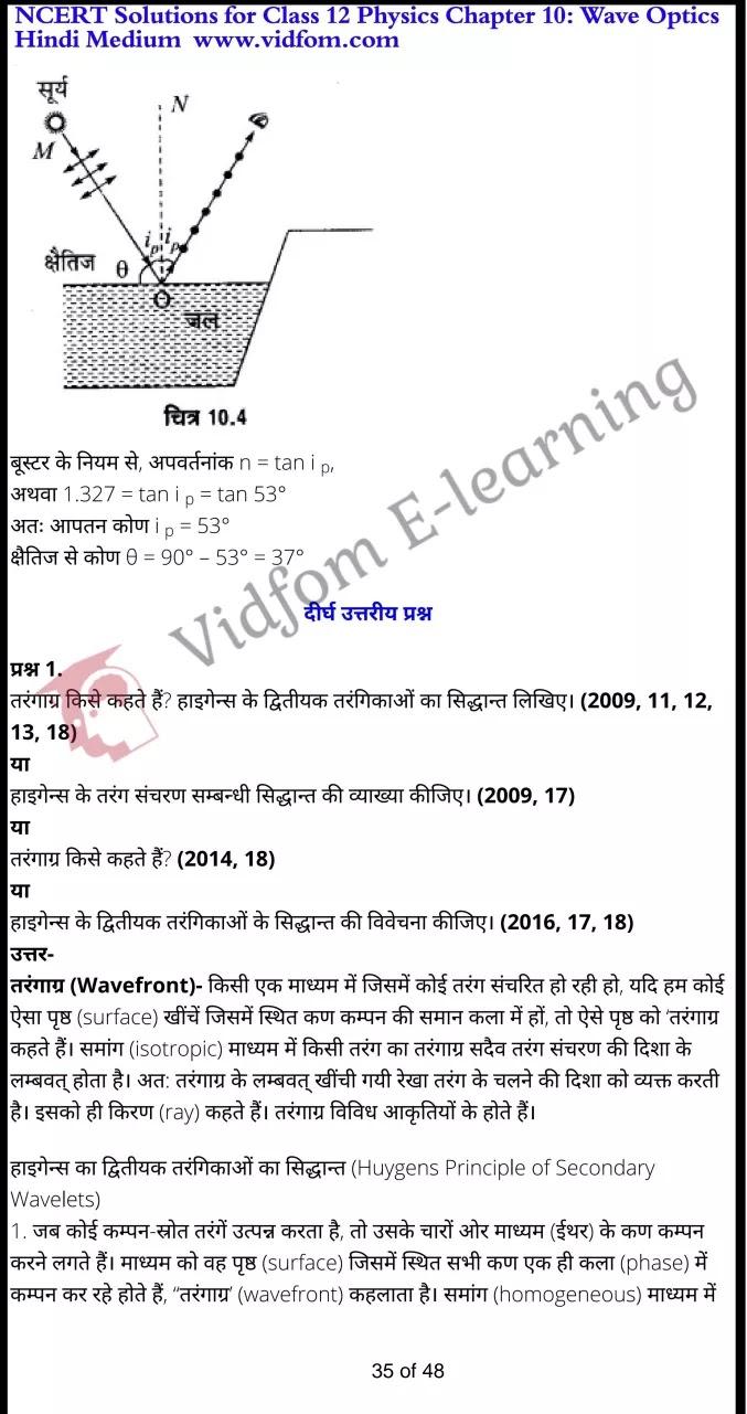class 12 physics chapter 10 light hindi medium 35