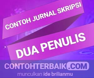 5 Contoh Jurnal Skripsi Dua Penulis Smansa Edu