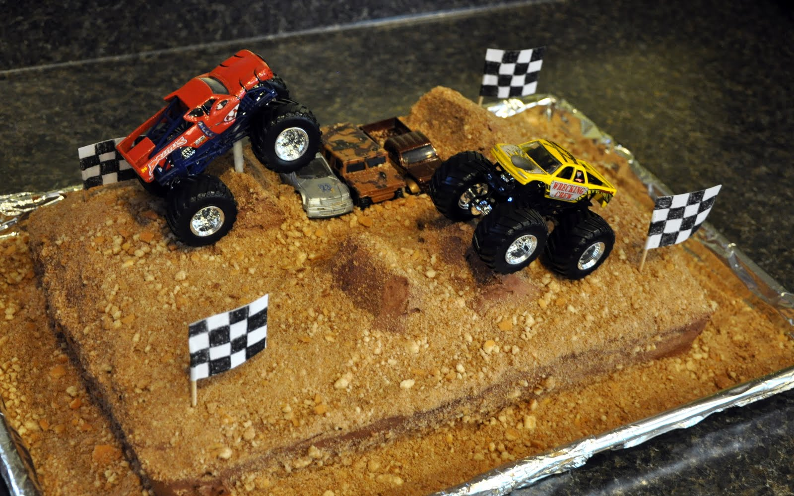 Turning Stones Blog Birthday Cake Monster Trucks