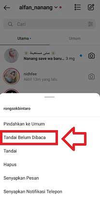 Cara Menandai DM Instagram Belum Dibaca