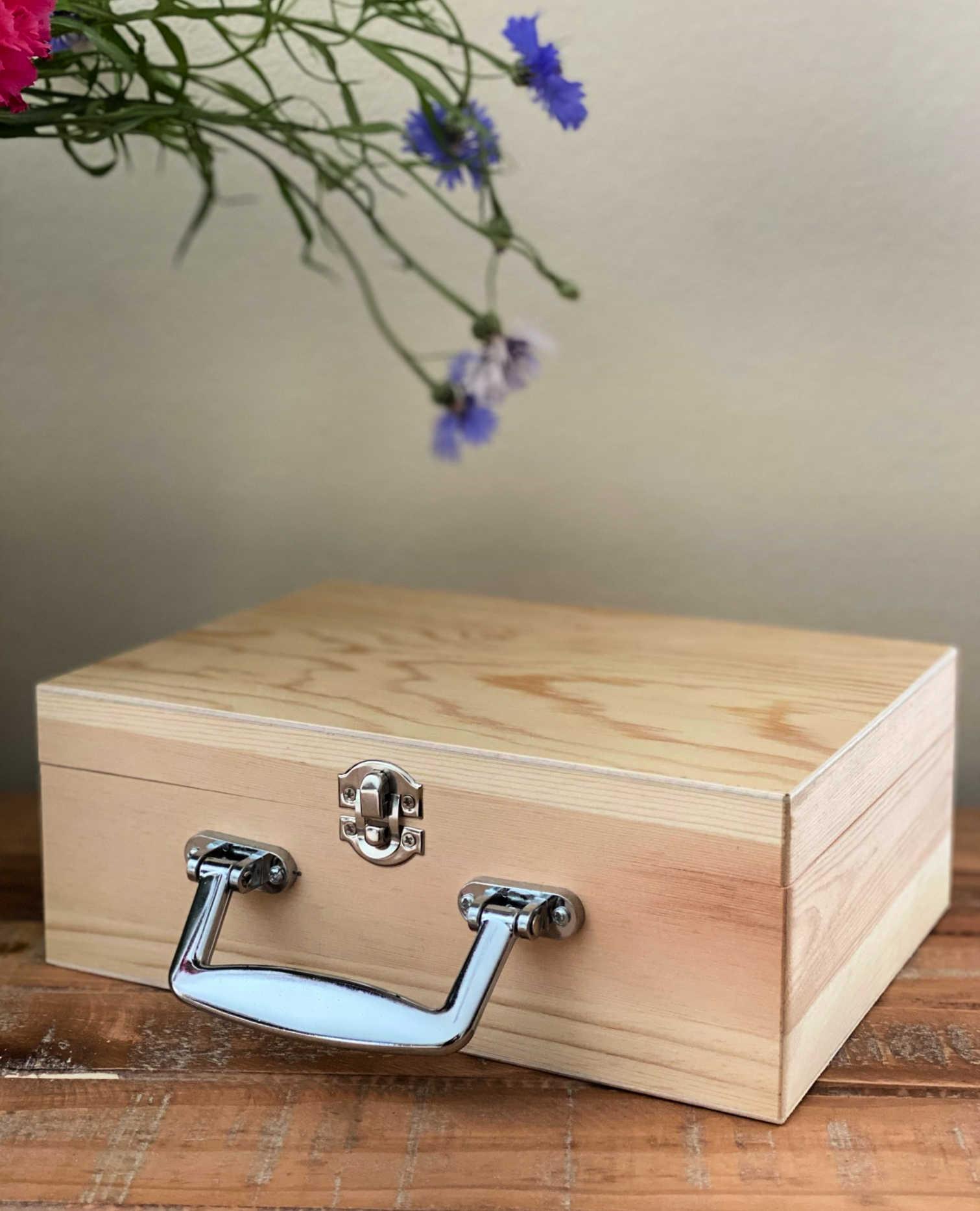 raw wood love letter keepsake box