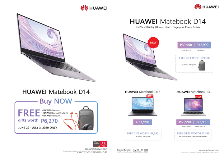 Huawei MateBook D 14 and MateBook 13 Philippines