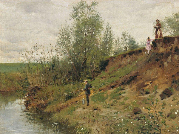 Маковский Владимир Егорович - Ловля рыбы. 1884