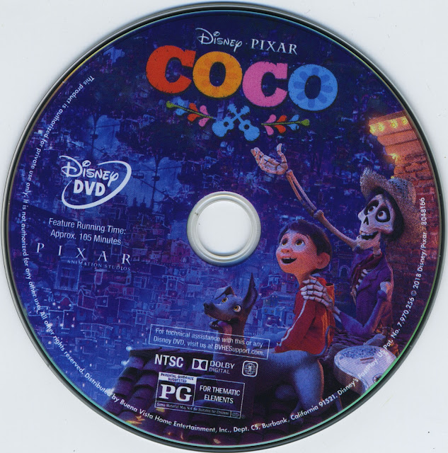 Coco DVD Label