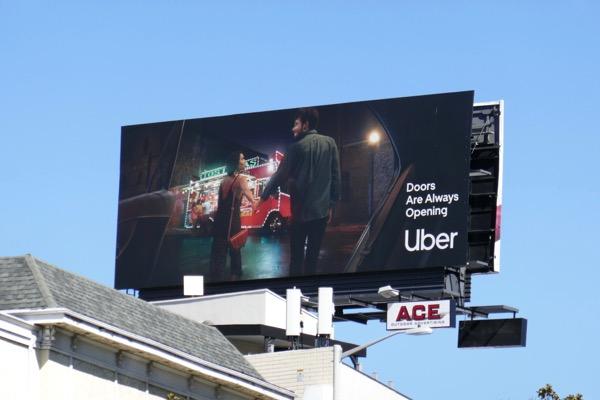 Uber Doors always opening billboard