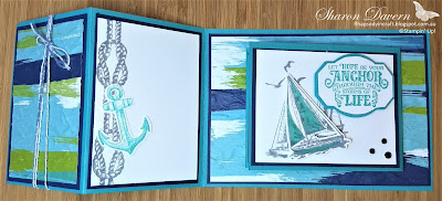 Rhapsody in craft, Sailing Home, Double Open Joy Fold, Bermuda Bay, Old World Paper 3D EF, Stampin' Up