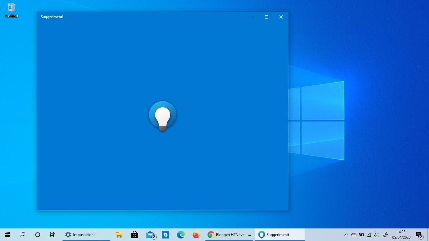 Anche l'app Suggerimenti ottiene la nuova icona in Windows 10 stabile
