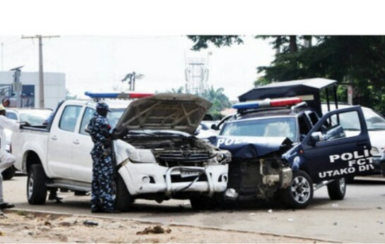 Police Vehicle Crashes With Military Convoy In Abuja