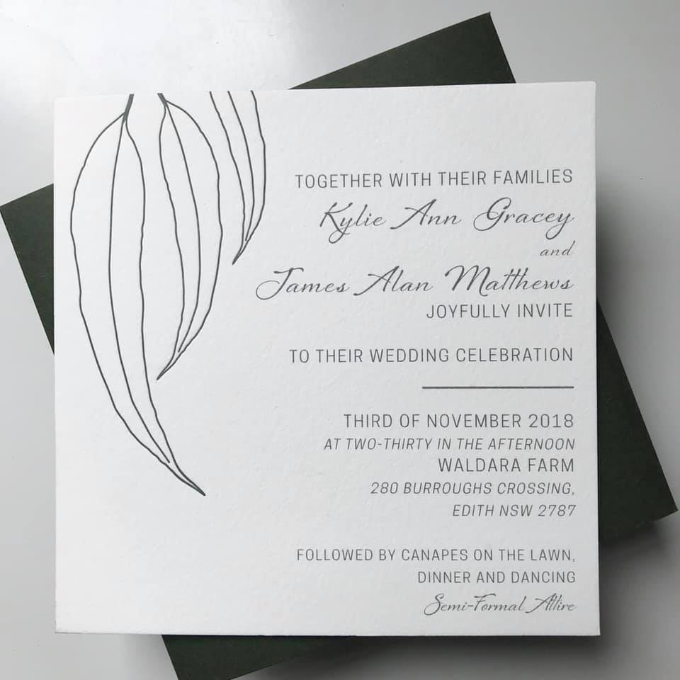 wedding invitations designer invites signage darwin weddings