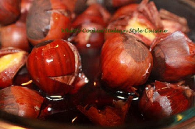 chestnuts soaking in merlot