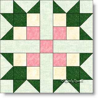 Magnolia quilt block image © Wendy Russell