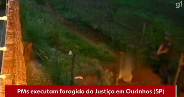 Vídeo: PMs executam foragido da Justiça após homem colocar as mãos na cabeça