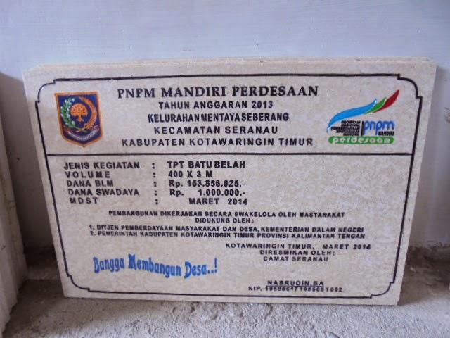 Batu Prasasti Marmer PNPM