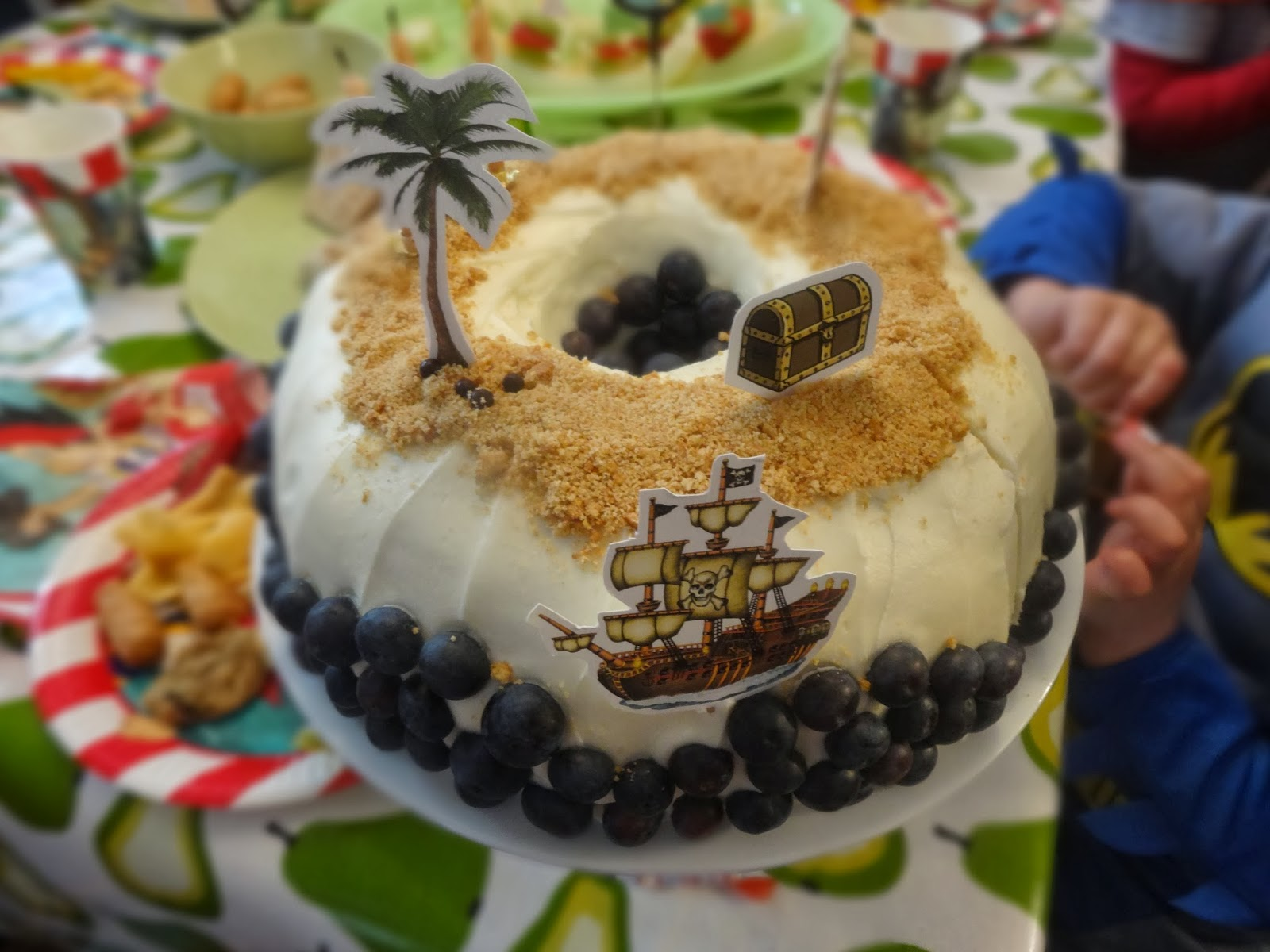 Blueberry Cream Cheese Pirate Cake
