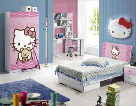 tempat tidur hello kitty lucu