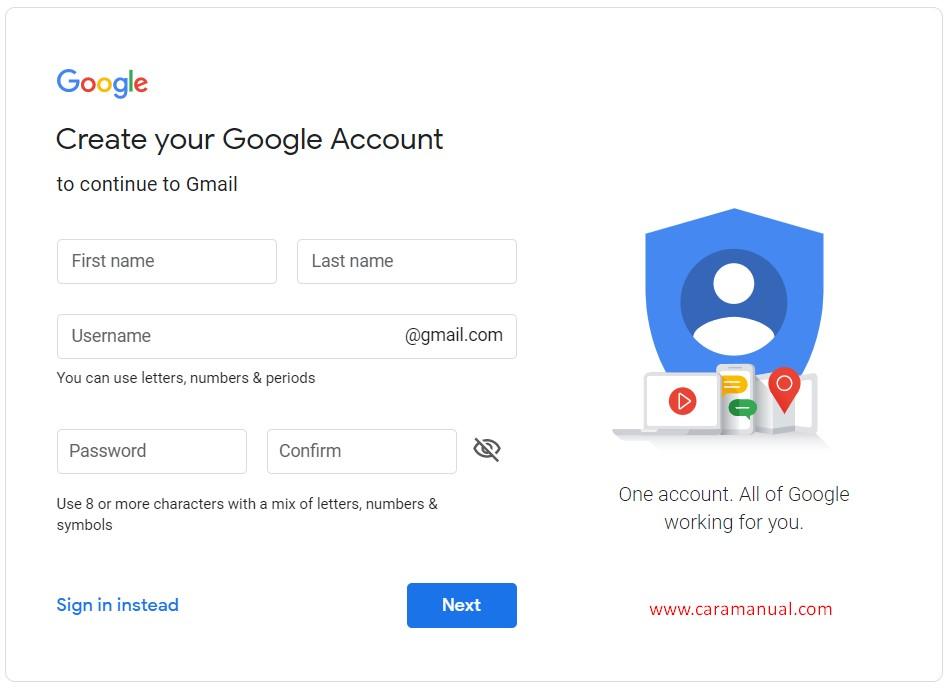 Membuat  Akun Gmail Terbaru