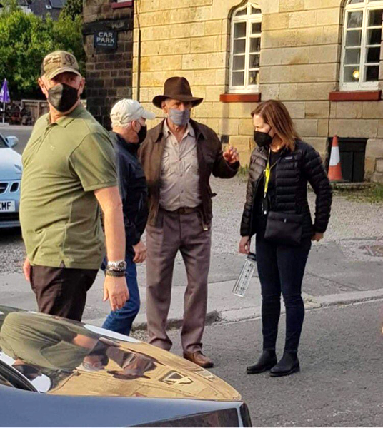 Harrison Ford is on set and donning the fedora again for INDIANA JONES 5.