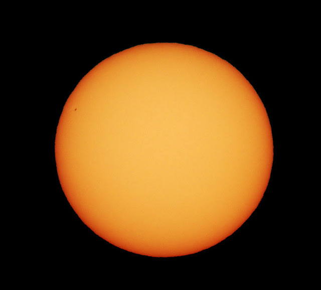 Sunspot on the left hand edge of the sun, July 22 (Source: Palmia Observatory)
