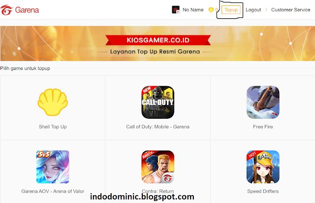 KiosGamer website to recharge COD