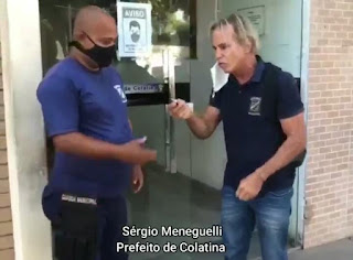 Prefeito da cidade de Colatina SE, Sério Meneguelli entrega prefeitura de Colatina e sai de bicicleta