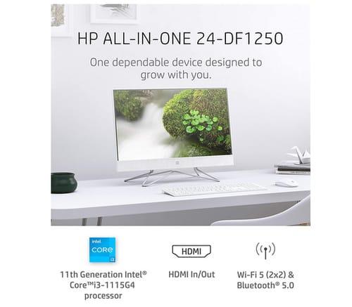 2021 HP 24-dp1250 All-in-One Desktop PC