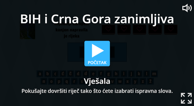 DIGITALNI ALATI - WORDWALL - BIH I CRNA GORA