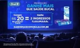 Nova Promoção Oral-B Ganhe Mais Saúde Bucal Ganhe Ingressos Cinema