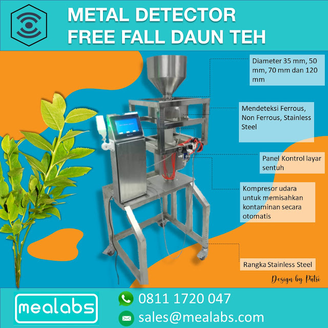 metal detector daun teh