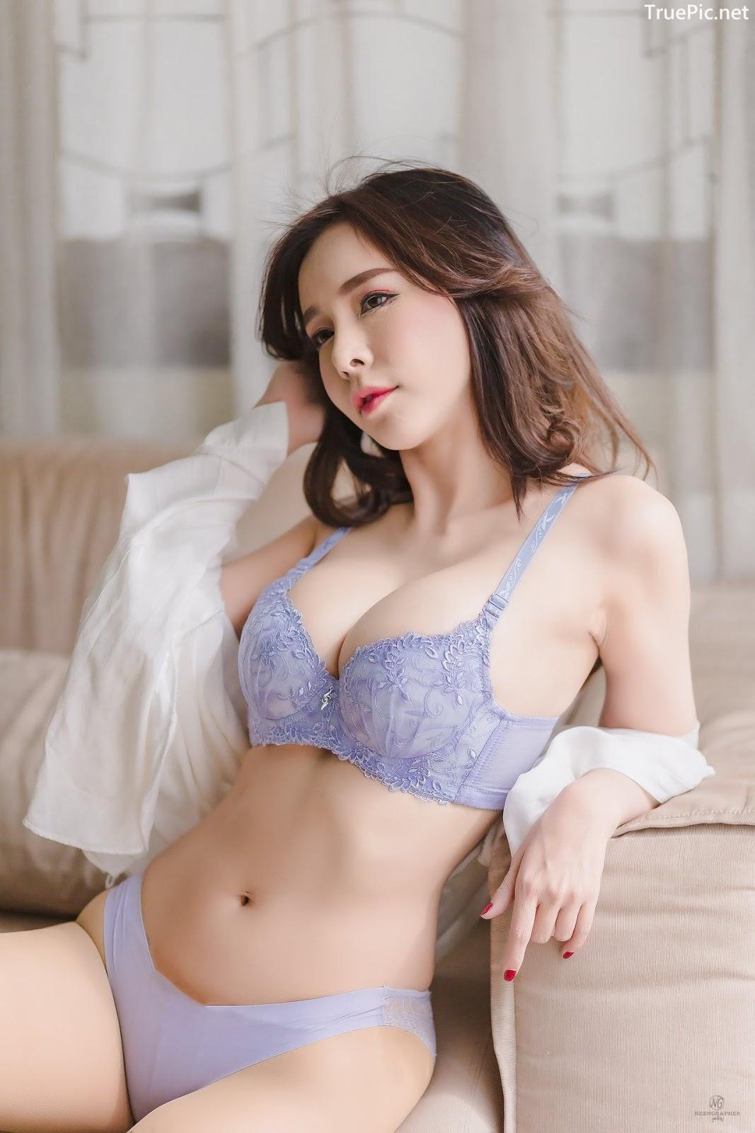 Image-Thailand-Hot-Model-Skykikijung-Purple-Lingerie-TruePic.net- Picture-1