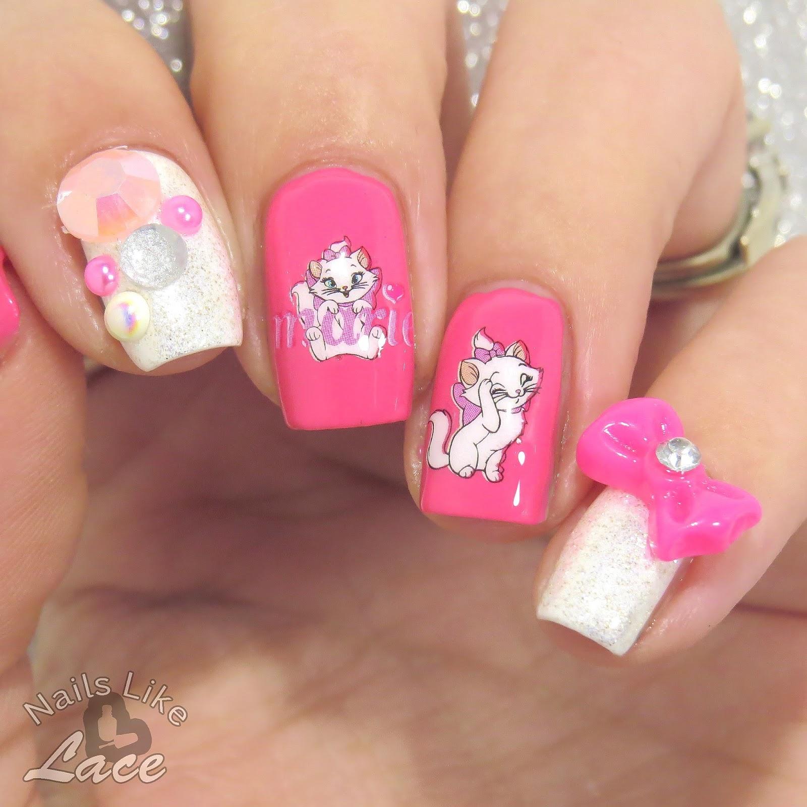 NailsLikeLace: 40 Great Nail Art Ideas: Animals - Aristocats\' Marie