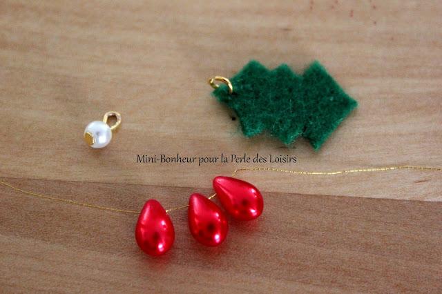 boucles d'oreilles, DIY, noel, bijoux, perle des loisirs