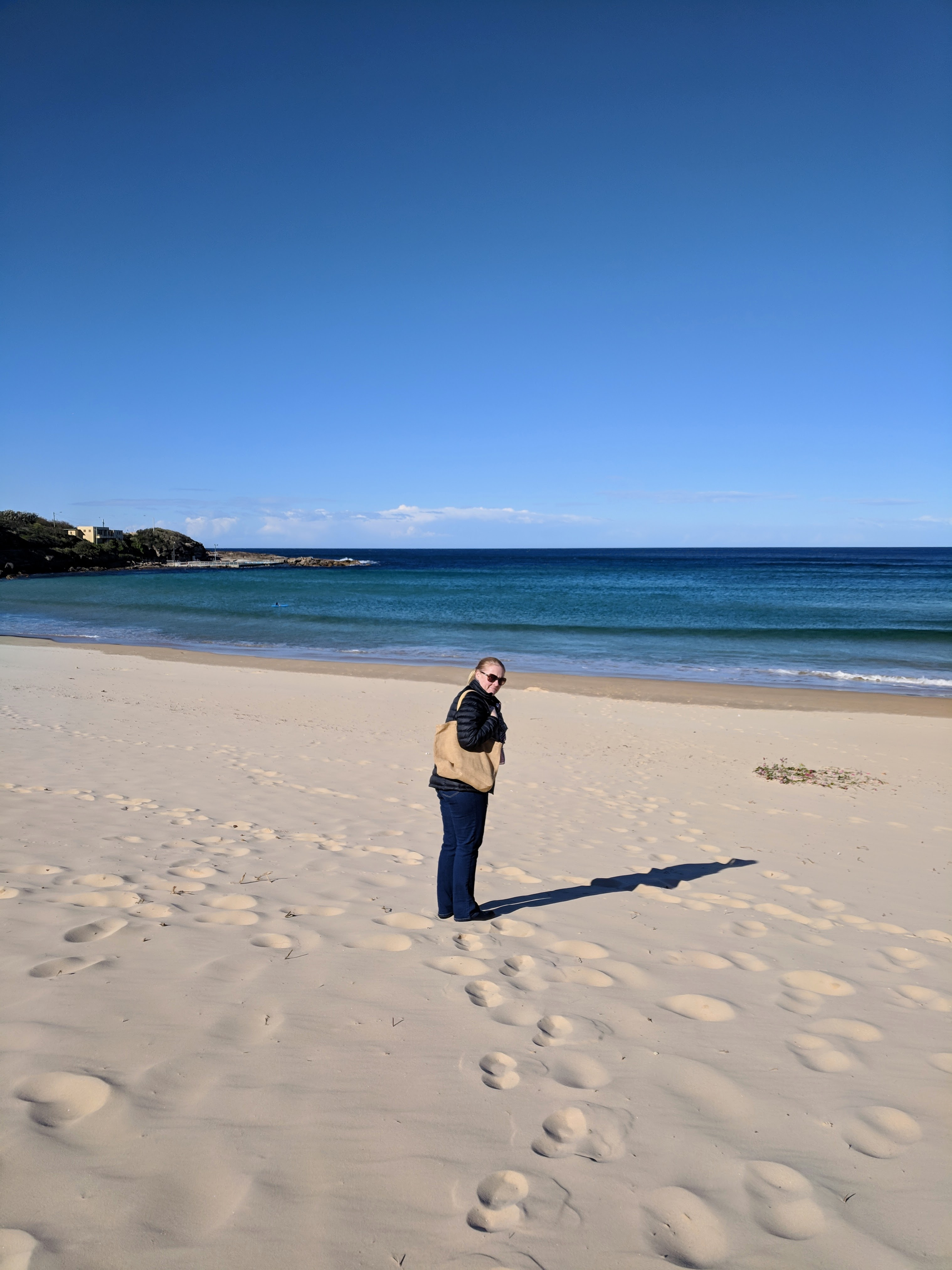 Woman on North Sydney beach