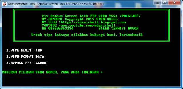 Tool Screen Lock Vivo Y55S