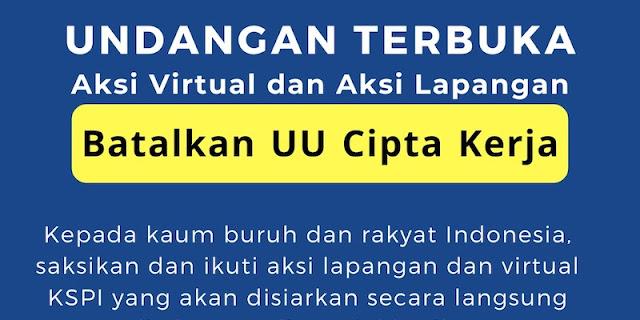 KSPI Gelar Aksi Tolak UU Ciptaker Secara Virtual