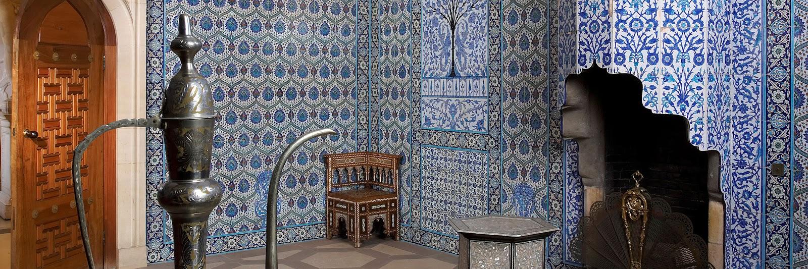 Mavi boncuk the turkish room at sledmere house yorkshire designed for sir mark sykes1 6th baronet by an armenian artist david ohanessian