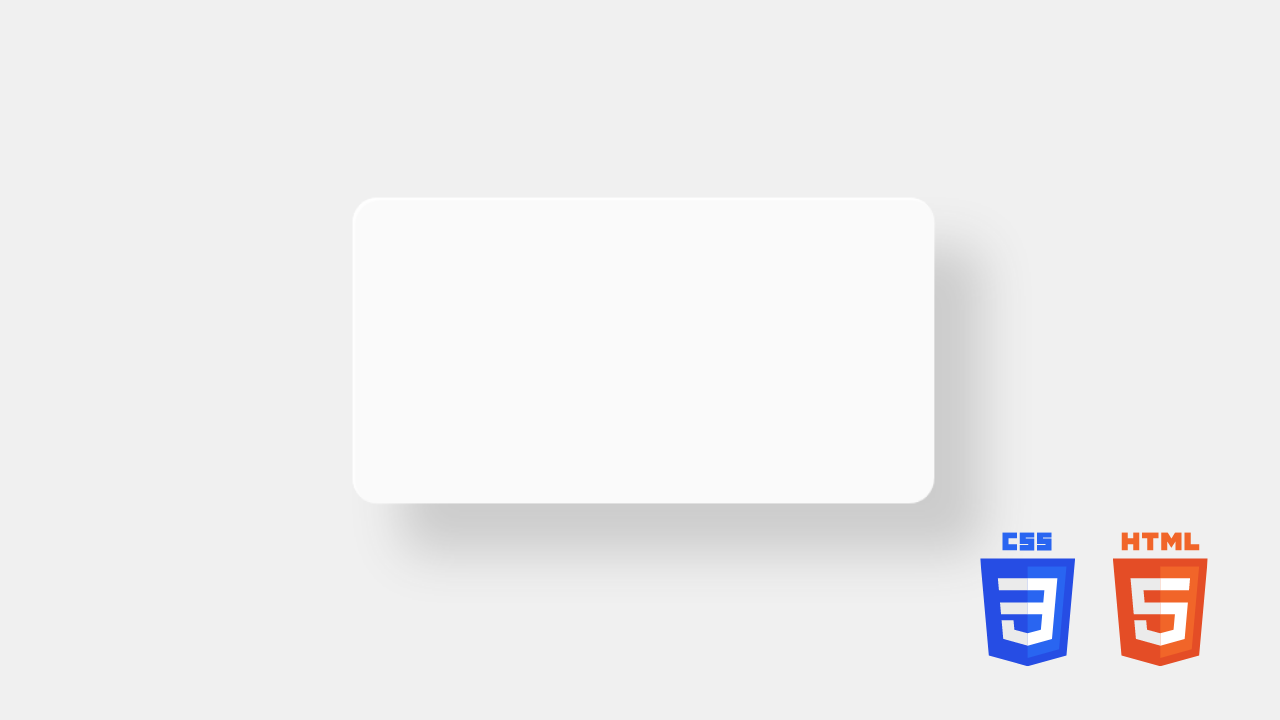 Neumorphism Animation using CSS