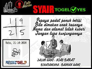 Syair Togel Yes Macau Rabu 21 Oktober 2020