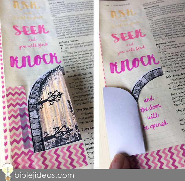 Use washi tape to attach 3-D items into your Bible