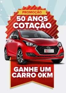 Promoção Cotação 50 Anos Ganhe Carro 0KM - Participar