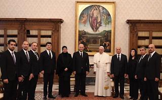 البابا فرنسيس يلتقي رئيس الجمهورية العراقية
