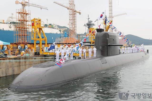 La Marina de Corea del Sur pone en servicio su primer submarino KSS III