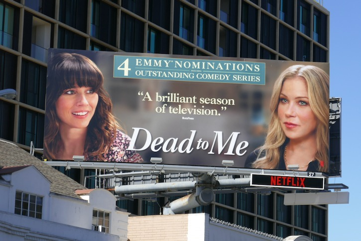 Dead to Me 2020 Emmy nominee billboard