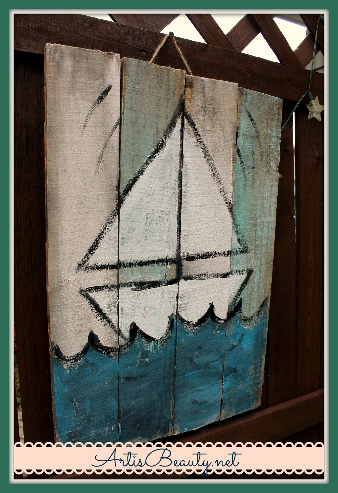 ART IS BEAUTY: Beachy Summer Handmade Signs made from free ...