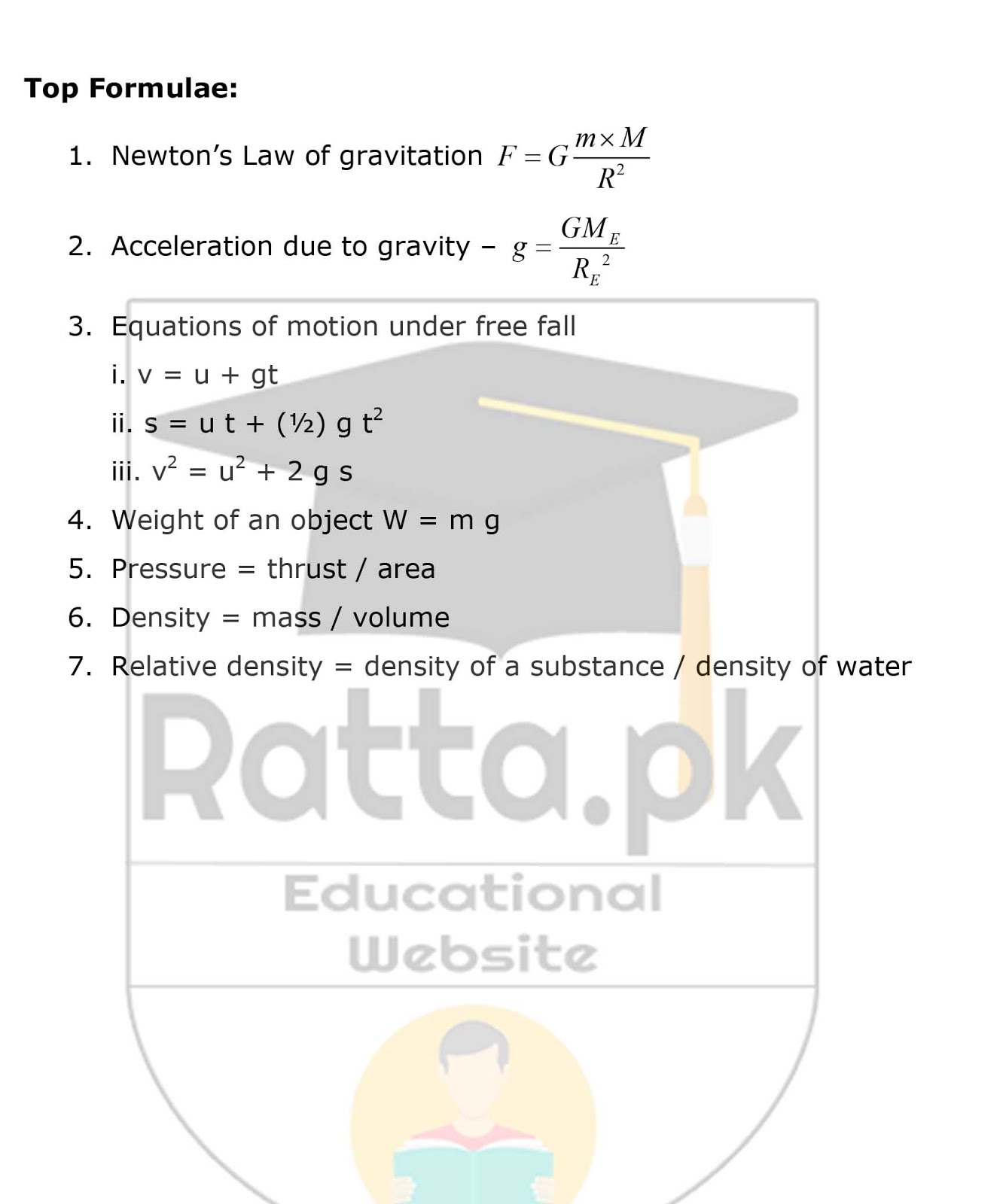 9th Physics Chapter 5 Gravitation Notes 2