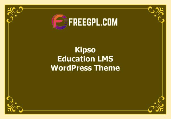 Kipso – Education LMS WordPress Theme Free Download