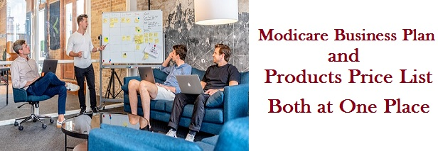 Modicare marketing plan and price list