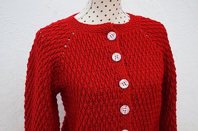 1 - Crochet imagen Chaqueta roja de mujer a crochet y ganchillo por Majovel Crochet