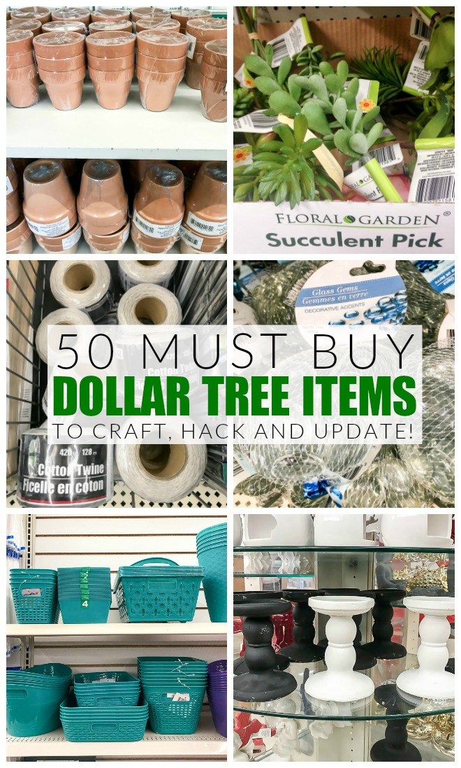 50 must buy dollar tree items to craft, hack and update