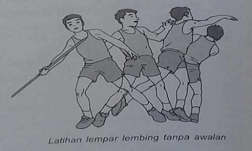 Lempar Lembing  bag.2 (Teknik awalan dan peraturan lomba)