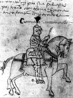 A drawing of Castruccio, kept at the  Biblioteca Statale in Lucca